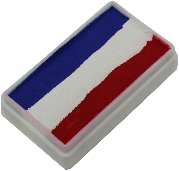 Red White Blue 1 Stroke Split Cake 30g